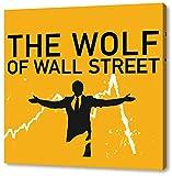 The Wolf of Wall Street Format: 40x40cm, Leinwandbild auf Holzrahmen gespannt, Leinwandbild, 1A Qualität zu 100% Made in Germany! Kein Poster Kein Plakat! Echtholzrahmen mit beigelieferten Zackenaufhängern. Fertig bespannt, Sofort dekorieren. Drei verschiedene Größen.
