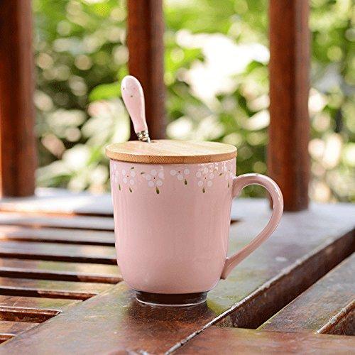 YX.LLA Tazza personalizzata Creative tazze di ceramica semplice ed elegante. Stile ciotola d'acqua i bicchieri (Personalizzata Cucchiaio Da Bambino)