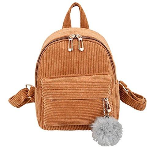 OYSOHE Mädchen Schultertasche Hairball Cord Schultasche Student Rucksack Satchel Travel Tasche by -