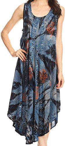 Vestito da stampa di vernice di Sakka Mariana Tie Dye / Cover con i Sequins e il ricamo Marina Militare