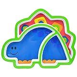 Dearmy Niedlich Tier Baby Geschirr Lernen Geschirr Fütterung Essen Tablett Teller Kinder Teller Kinder Kinder Geschirr Snack Tasse Schüssel Baby Gericht Geschirr (Dinosaurier)