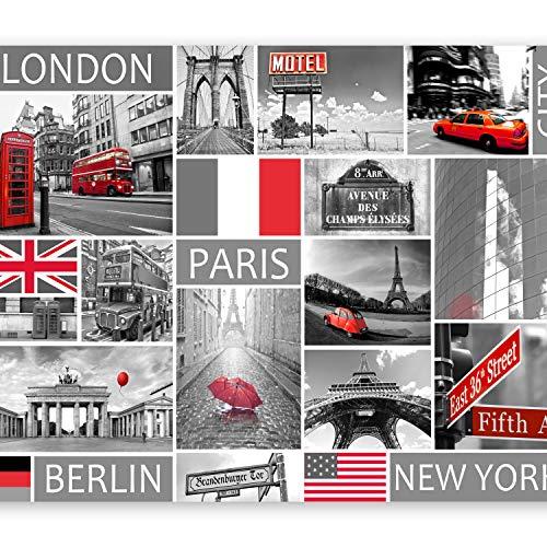 murando - Fotomural 350x256 cm - Papel tejido-no tejido - Papel pintado - ciudad Colage 10110904-56