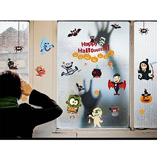 Abnehmbare Wandsticker Wandtattoo Wandaufkleber für Kinderzimmer Babyzimmer mit Süße Tiere Deko für Geburtstag Party von Outry (Halloween ()