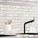 StickerProfis Küchenrückwand selbstklebend Pro GEKALKTE Wand 60 x 60cm DIY - Do It Yourself PVC Spritzschutz