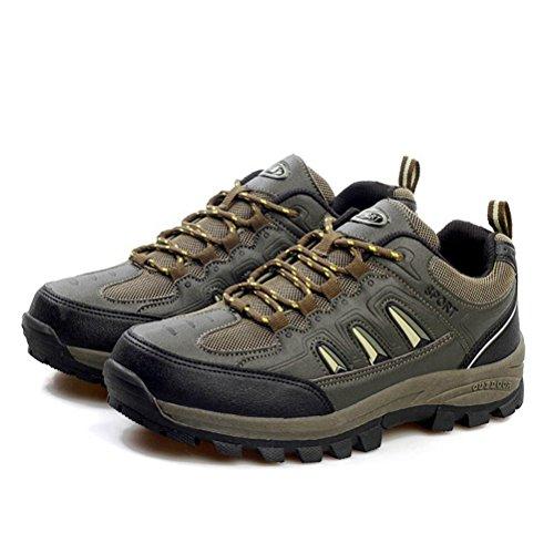 Unisex-Erwachsene Atmungsaktive Vier Jahreszeiten Bequeme Weiche Sohle Laufschuhe Wanderschuhe Schnürsenkel Gummi Sohle Anti Rutsch Wanderstiefeln Grün