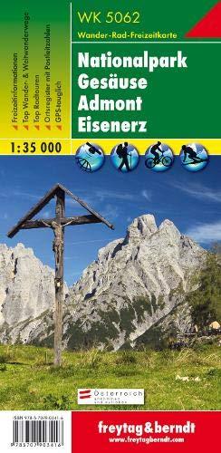 WK 5062 Nationalpark Gesäuse - Admont - Eisenerz, Wanderkarte 1:35.000, freytag & berndt Wander-Rad-Freizeitkarten: Serie Wandern + Freizeit spezial. Ortsregister