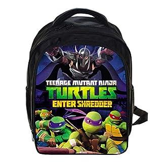 Mochila para la Escuela Ligero Tortugas Ninjas Mutantes Adolescentes Mochila para niños Elemental Mochilas para Chicos 12.99 * 5.7 * 9.44 Pulgadas,C