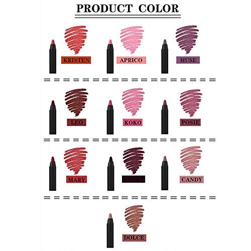 POachers Crayon à lèvres- matte longue durée hydratant lipgloss crayon lèvres bâton stylo à lèvres gloss set professionnel maquillage outil hydratant kit nutritif Lipliner