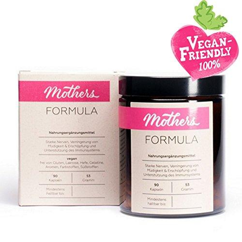 Mothers Formula | 90 Vegane Kapseln - Mehr Gesundheit & Energie Für Mütter & Frauen | bei Stress & Schlafmangel | A-Z Multivitamin-Komplex