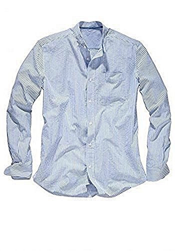 Herren Seersuckerhemd von Eddie Bauer Blue Stripe