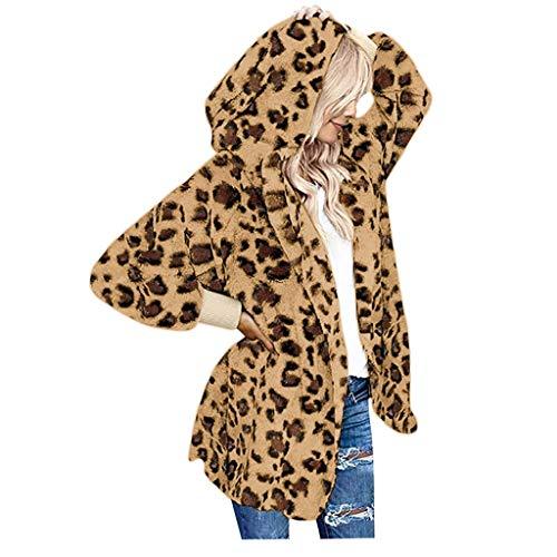 Damen Mantel Rosa Warmer Wollmantel Teddy-Fleece Jacke künstlicher Sweatshirts Jacke Kapuzenpullover Wintermantel Damen Hoodie Oversized Elegant Softshell Jacke Outwear Pelzmantel