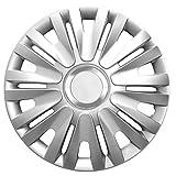 15 Zoll Radzierblenden ROYAL RC SILVER (Silber mit Chromring). Radkappen passend für fast alle VW Volkswagen wie z.B. Golf 6 1K!