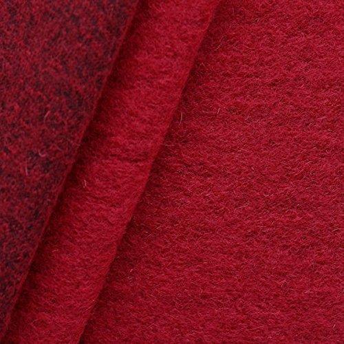 Wollmix Walkstoff lana cotta Stoff Meterware Rot (Wolle Stoff Jacke Mantel)