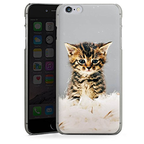 Apple iPhone X Silikon Hülle Case Schutzhülle Baby Katze Kitty Cat Hard Case anthrazit-klar
