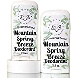 Organic Deodorant-Mountain Spring (2 Pack)-Healthy All Natural Deodorant Detoxes With No Aluminum - Handcrafted...