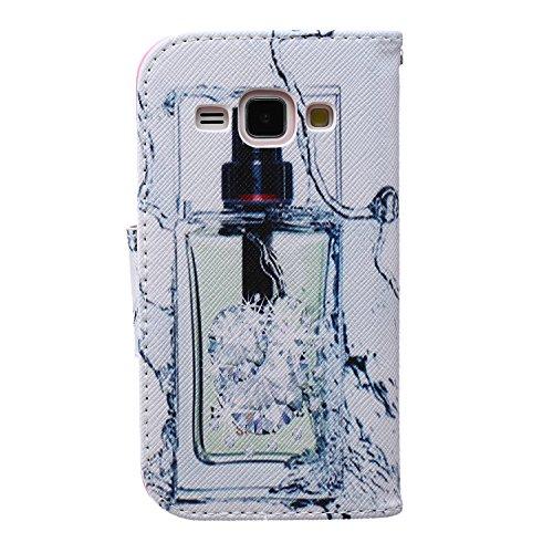 Coque pour Samsung Galaxy S6 Edge Plus, Etui pour Samsung Galaxy S6 Edge Plus, ISAKEN Peinture Style PU Cuir Flip Magnétique Portefeuille Etui Housse de Protection Coque Étui Case Cover avec Stand Sup Parfum Bouteille