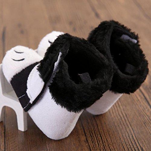 Hunpta Kleinkind Kleinkind Baby britische Flagge Gösch weichen Sohle Stiefel Krippe Schuhe Lauflernschuhe Krabbelschuhe Babyschuhe (12, Weiß) Weiß