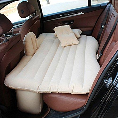 Coche inflable cama hinchable Camping Asiento Trasero Extended coche universal de coche cojín cama hinchable flocado colchón cama de aire para niños (blanco)