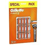Gillette Fusion5 Lamette di Ricambio, Confezione Speciale da 12Pezzi