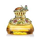 JUNHAO Decoración cristalina Personalizada de la Botella de Perfume del Coche de la Moda llenada del ambientador de Aire Conveniente para la decoración del Coche/del hogar (sin Perfume),Yellow