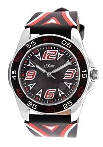 s.Oliver Jungen-Armbanduhr Analog Leder SO-2385-LQ