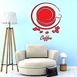3D kaffee kakaobohnen Tasse Vinyl Aufkleber Wandaufkleber vinyl Aufkleber Kunst Cafe Abendessen...