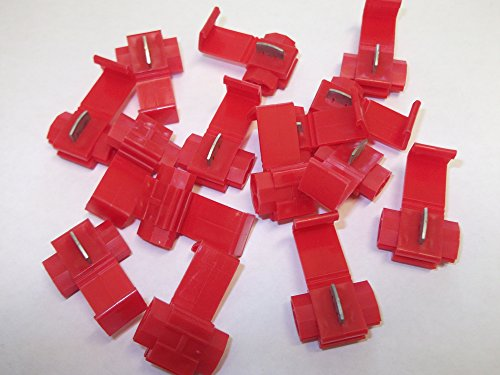 15 x Red Scotchlok Wire Tap to Spade Terminals Connectors Quick Splice Electrical Cable 22-16 AWG / 0.5mm-1.5mm Splice Terminal