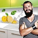 StickerProfis Küchenrückwand Selbstklebend Pro Fruit Splash 60 x 220cm DIY - Do It Yourself PVC Spritzschutz