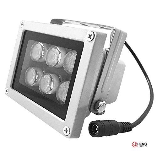 JC iluminador de infrarrojos (6ledes de alta potencia gran angular iluminador de infrarrojos para cámara de seguridad CCTV cámara IP de 850nm