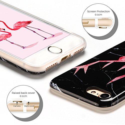 IPhone 7 Hülle, iPhone 7 Case, Apple 8 Handyhülle, Spiritsun Weiche TPU Hülle für Weihnachten Kawaii Cover Hochwertige Funkelnde Luminoso Hülle Elegante Flessibile Liscio Flamingo Protezione Hülle für Cervo getestet 1