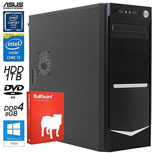 SNOGARD Office Line PC incl. Windows 10 Pro | 7th Generation Intel Core i3-7300 Prozessor, Intel HD 630 Grafik, 8GB DDR4 RAM, 1000GB HDD + DVD±RW • Office Business & Multimedia Desktop Computer (OfficeLine i3-7300 W10Pro Kaby Lake)