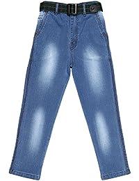 Magic Attitude Boy's Slim Fit Jeans Faded Light Blue