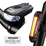 Bike Lights by RUBY LITE | Bike Lights Set, USB rechargeable | Super
