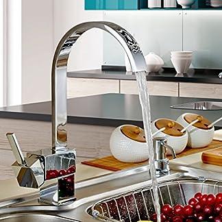 Auralum® Grifo de cocina Grifo del fregadero giratorio 360 Latón Diseño Clásico