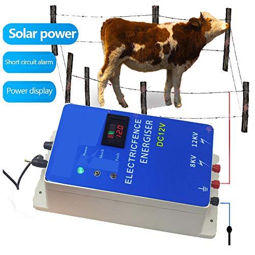 wansosuper Elektrozaun 220V,Ranch Zaun Schafe Elektrozaun,Elektrozaun Hauptstromversorgung,Geeignet FüR Pferde, KüHe, Schafe, Schweine, GeflüGel, WaschbäRen, Esel,Blue -