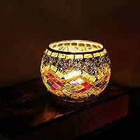 Bluelover scatola Holder artigianale mosaico di vetro Candeliere Candela Candelabri casa nuziale della regalo-Gift #
