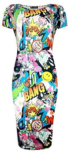 Girl Kostüm Pop Art Comic - GUBA® Damen Schlauch Kleid Gr. 40, Comic Book