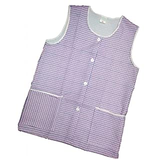 Ladies Dogtooth Tabard with Two front pockets four front buttons Pink OS (Approx 44-46 inches)
