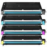 4er Set Eurotone Toner Cartridge XXL kompatibel ersetzt DELL 3130 CN 3130CN - Premium Alternative ersetzt H516C H513C H514C H515C & G910C G907C G908C G909C