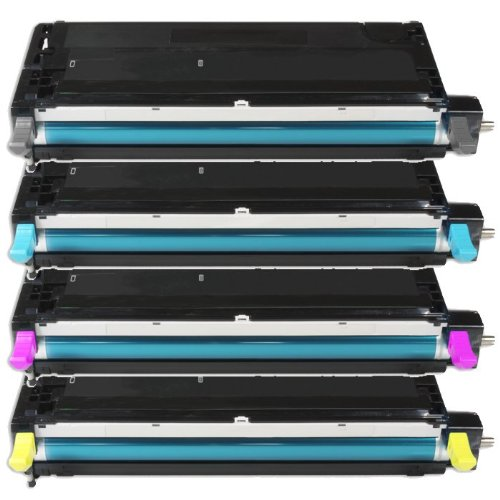 Preisvergleich Produktbild 4x Alternativer Eurotone Toner XXL SET für DELL 3130 CN 3130CN - Alternative für Dell H516C H513C H514C H515C & G910C G907C G908C G909C - Black Cyan Magenta Yellow