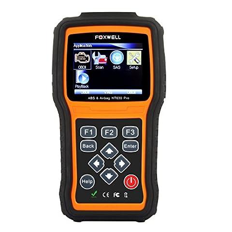 Foxwell NT630 Scan Tool Engine + ABS + Airbag SRS Diagnostic Scan & Reset Code Reader Tool Air Bag Crash Data Reset Car Diagnostic
