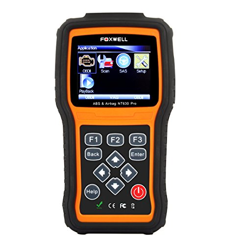 Foxwell NT630 Pro Engine ABS Airbag, SAS, SRS Reset Scan Tool Anti Lock Brake System OBD2 Scanner Turn off ABS/Airbag Warning Indicator