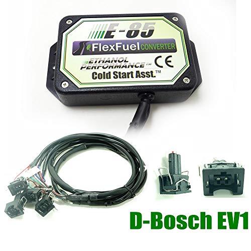 Kit Ethanol E85 4-cylindres, 4cyl E85 Kit de Conversion Carburant Alternatif à l'éthanol avec démarrage à Froid, biocarburant E85, Voiture à l'éthanol, convertisseur de bioéthanol (BOSH EV1)
