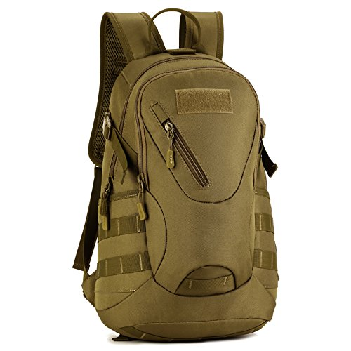 Imagen de huntvp táctical  militar  asalto  gran bolsa de hombro impermeable 20l para las actividades aire libre, senderismo, caza ,viajar, color marrón