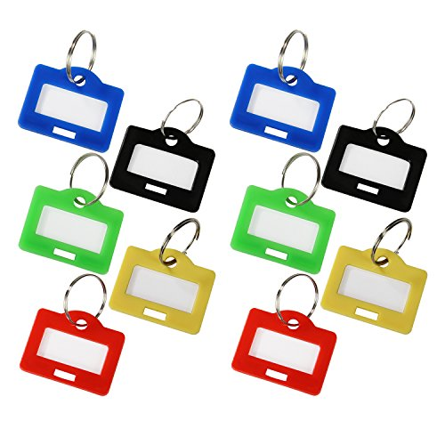 HMF 18000 - Schlüsselanhänger 10 Stück, farblich sortiert