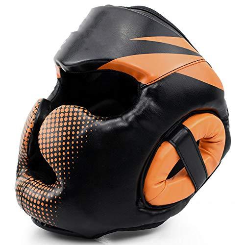 Casco de Boxeo Transpirable-Orange-M