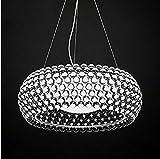 MOMO Wojia Caboche Nordic Minimalist Restaurant Club Villa Zeus Sweat Kaposi Kugel Plasma Lampe Kronleuchter,Transparent 50cm