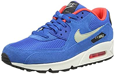 Nike Air Max 90 Essential, Chaussons Sneaker Homme - Bleu (dark Electric Blue/light Stone/anthracit 407), 44 EU