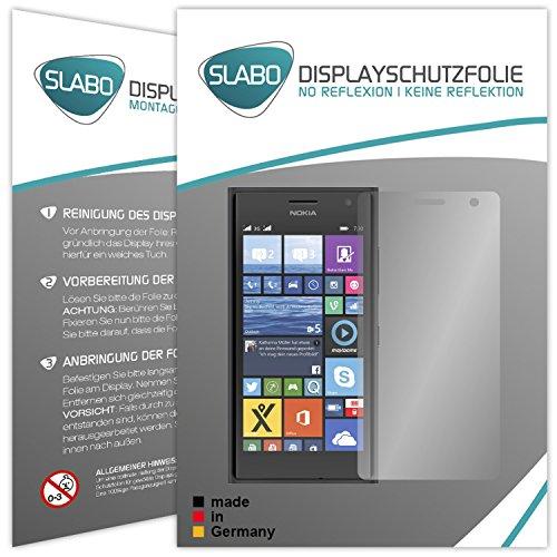 2 x Slabo Bildschirmschutzfolie Nokia Lumia 730 Bildschirmschutz Schutzfolie Folie (verkleinerte Folien, aufgr& der Wölbung des Bildschirms)
