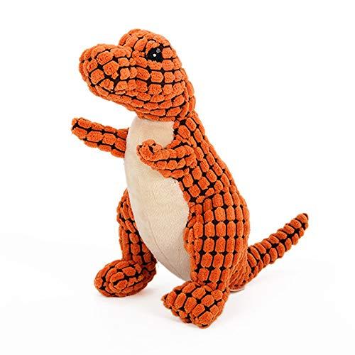 LOSVIP Haustier Hundespielzeug Zähne putzen Molar Hohlraumpflege Interaktives Plüsch Spielzeug(Orange,30x22x15cm)